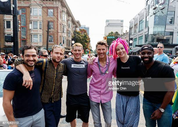 Netflix's Sense8 cast members Alfonso Herrera Max Riemelt Brian J Smith City of Vancouver Mayor Gregor Robertson creator Lana Wachowski and Toby...