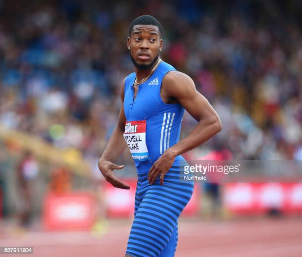 Nethaneel MITCHELLBLAKE of Great Britain after the Men's 200n during Muller Grand Prix Birmingham as part of the IAAF Diamond League 2017 at...