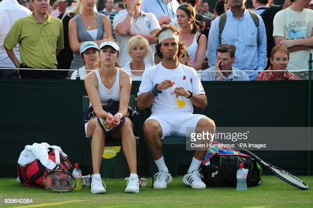 Netherland Antilles' JeanJulien Rojer and Kazakhstan's Galina Voskoboeva in mixed doubles action against South Africa's Jeff Coetzee and USA's Jill...