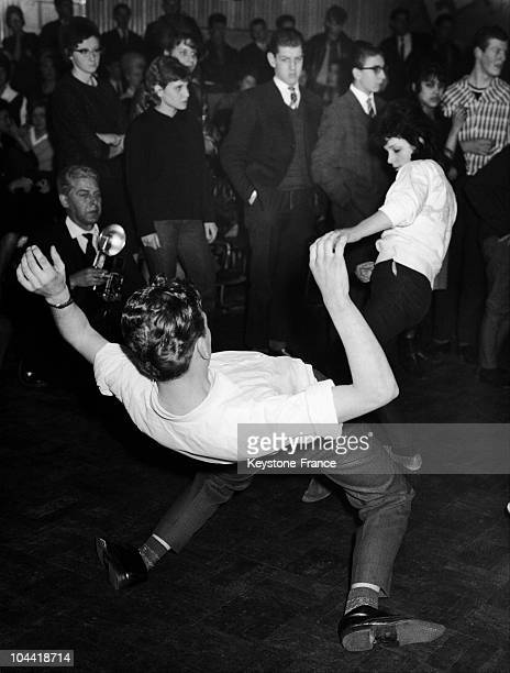 Netherlander Couples Dancing During The Finals Of The Twist In Amsterdam On February 28 1962