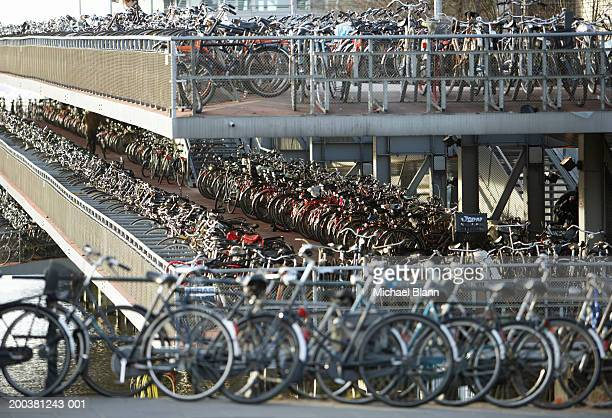 Netherlands, Amsterdam, Central Station bicycle park