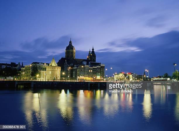 Netherlands, Amsterdam, cityscape, dusk