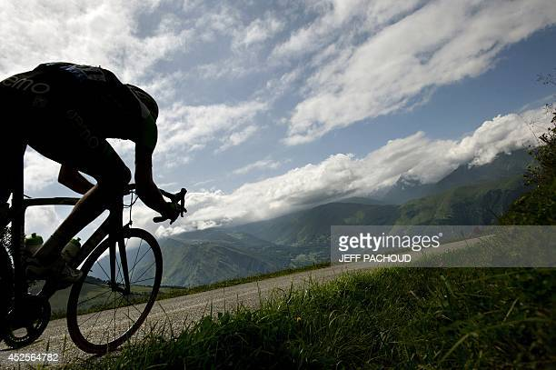 Netherland's Bauke Mollema rides in a breakaway during the 1245 km seventeenth stage of the 101st edition of the Tour de France cycling race on July...