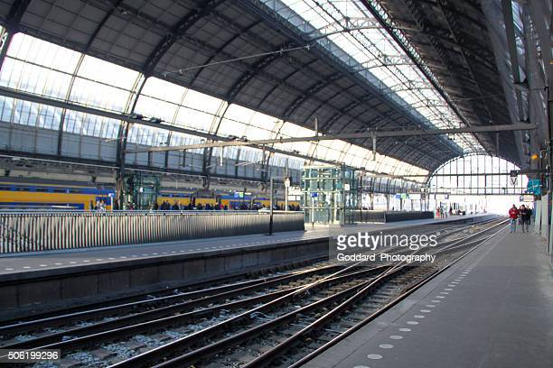 Netherlands: Central Station in Amsterdam