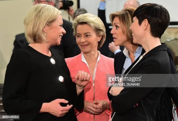 Netherlands' Defence Minister Jeanine HennisPlasschaert Germany's Defence Minister Ursula von der Leyen Spain's Defence Minister Maria Dolores de...