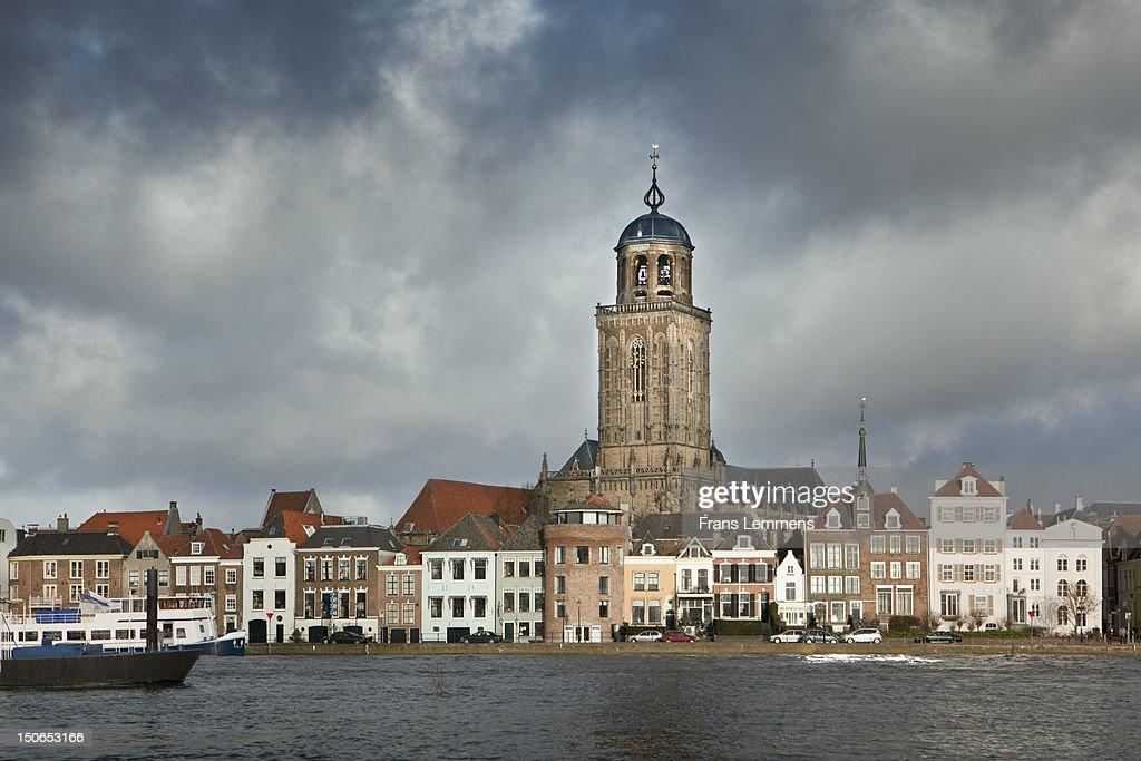 Netherlands, Deventer, City skyline