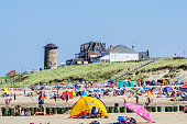Netherlands, Domburg, beach with holidaymakers