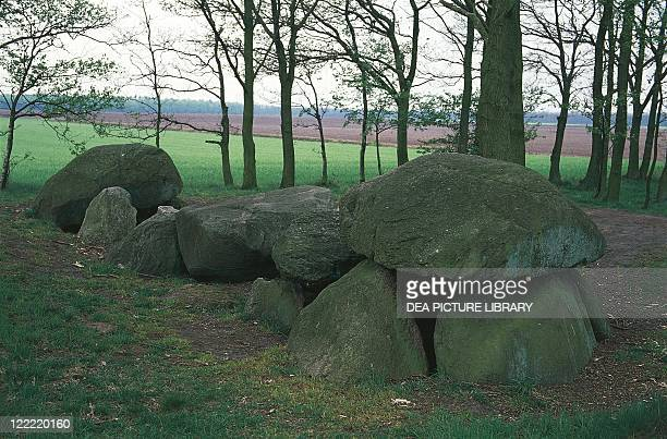 Netherlands Drenthe Borger Borger Long Dolmen known as Giant's bed Neolithic Age 3500 bC
