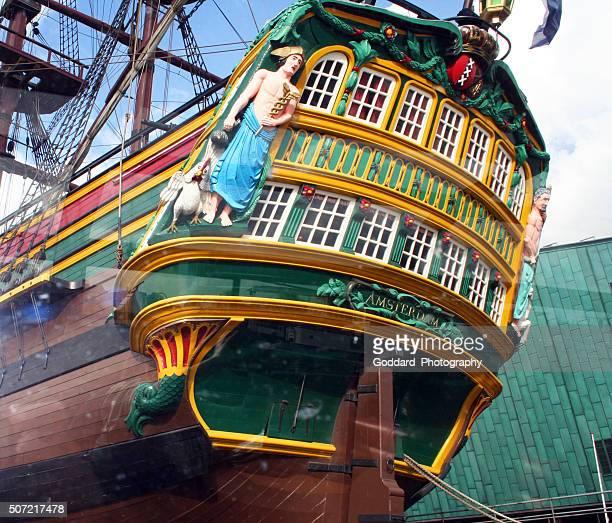 オランダ):東 インド貿易船 船アムステルダム