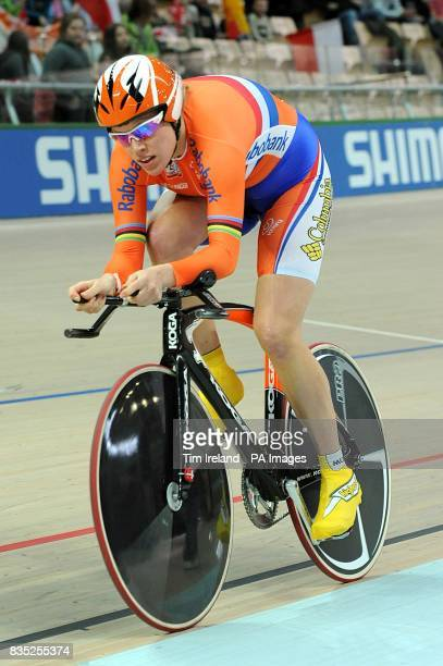 Netherland's Eleonora Van Dijk during the qualifying for the Women's Individual Pursuit during the 2009 UCI World Track Cycling Championships at the...
