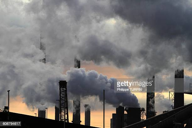 Netherlands, factory smokestacks
