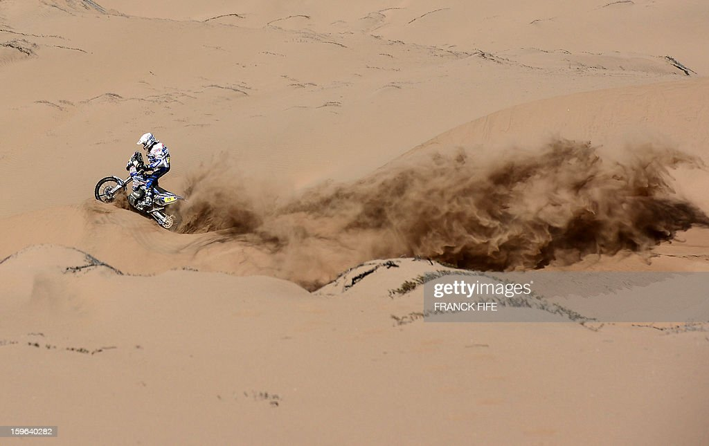 Netherlands' Franz Verhoeven competes on his Yamaha during the Stage 12 of the Dakar 2013 between Fiambala, Argentina and Copiapo, Chile, on January 17, 2013. The rally takes place in Peru, Argentina and Chile between January 5 and 20.