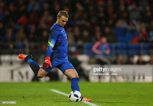 Netherlands goalkeeper Jasper Cillessen during the International Friendly match between Wales and Netherlands at Cardiff City Stadium on November 13...