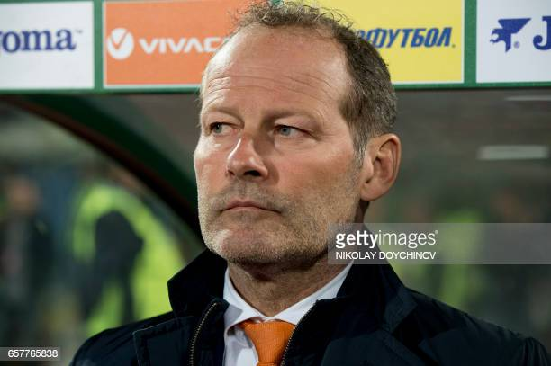 Netherlands' Head Coach Danny Blind looks on prior to the FIFA World Cup 2018 qualification football match between Bulgaria and Netherlands in Sofia...