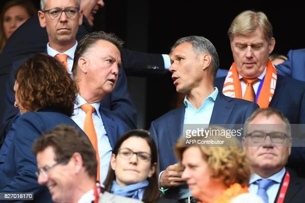 Netherland's head coach for the men national football team Dick Advocaat attends the UEFA Womens Euro 2017 football tournament final match between...