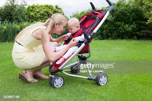 Netherlands, Helvoirt, Mother and daughter together outdoor
