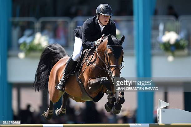Netherlands' Johnny Pals riding Fernando competes during the International Jumping of France equestrian event on May 15 2016 in La BauleEscoublac...
