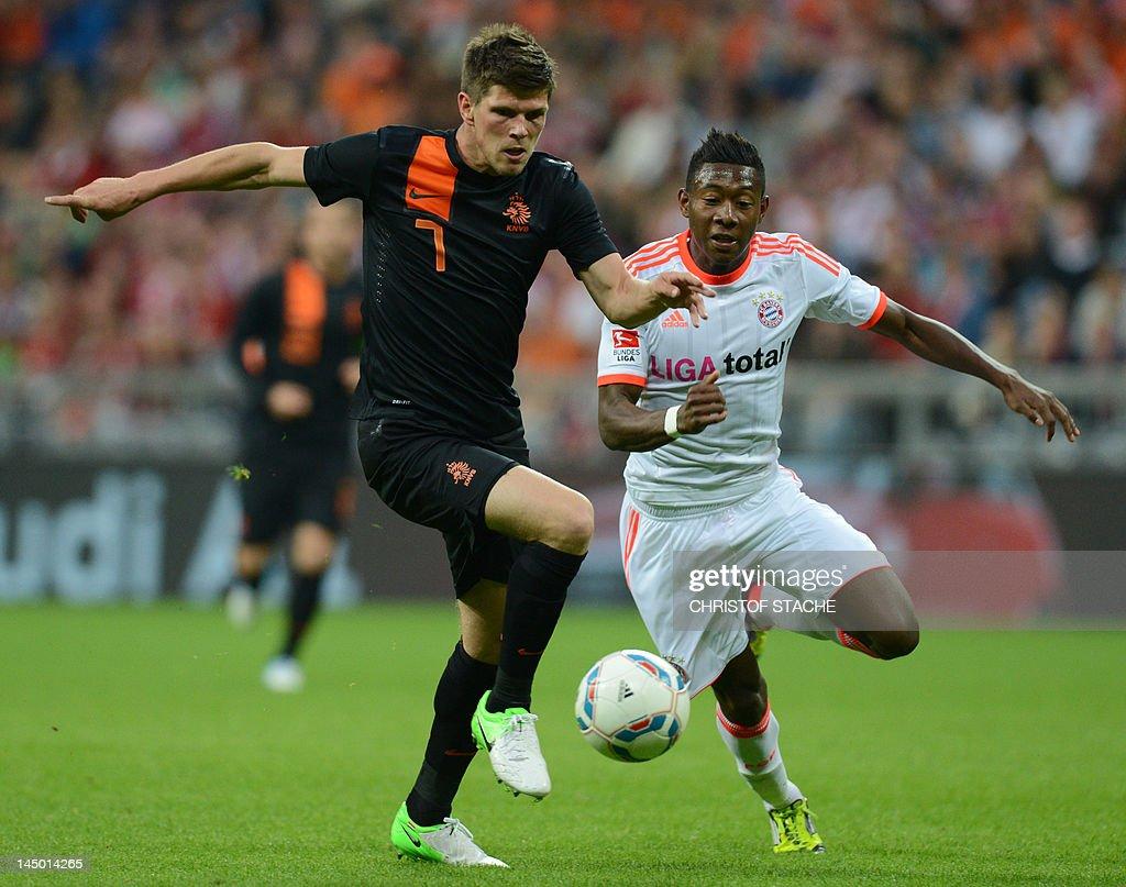 Netherland s Klaas Jan Huntelaar L and