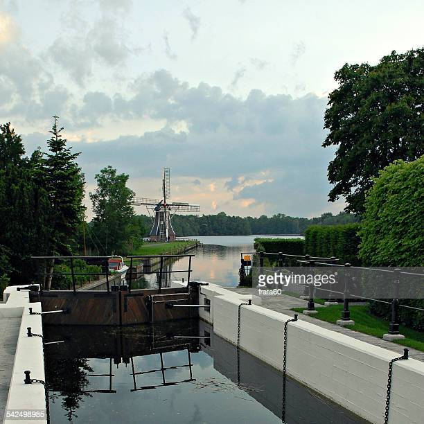 Netherlands, Mill at Lake Paterswolde