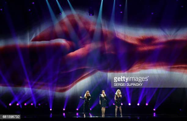 Netherlands' OG3NE perform the song 'Lights and Shadows' during the second semifinal dress rehearsal of Eurovision Song Contest 2017 on May 10 2017...