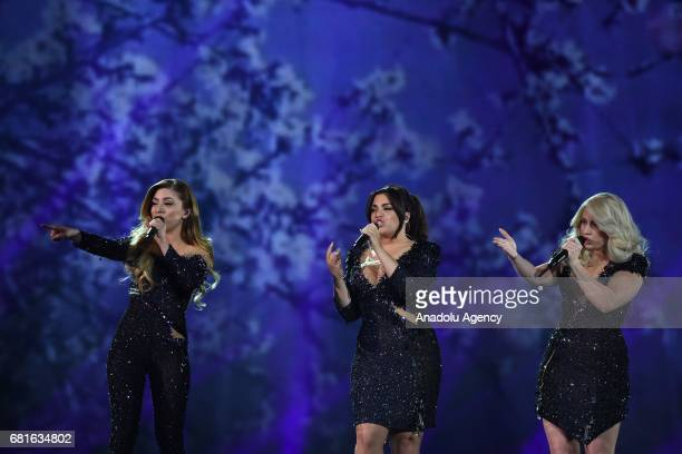 Netherlands' OG3NE perform the song 'Lights and Shadows' during the second semifinal dress rehearsal of Eurovision Song Contest 2017 at the...