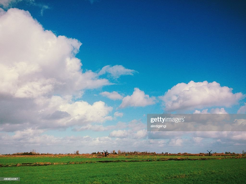 Netherlands, Paesi Bassi, Landscape with clouds