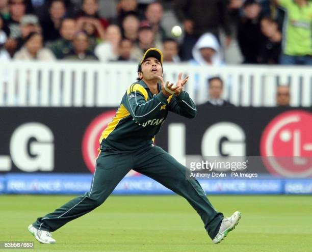 Netherland's Peter Borren is caught by Pakistan's Salman Butt during the ICC World Twenty20 match at Lord's Cricket Ground London