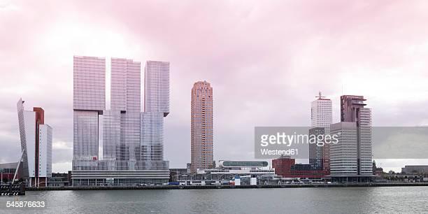 Netherlands, Rotterdam, Skyline, Nieuwe Maas river