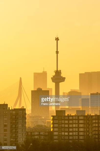 Netherlands, Rotterdam, Skyline with Euromast