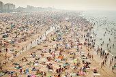 Netherlands, Scheveningen, People on beach