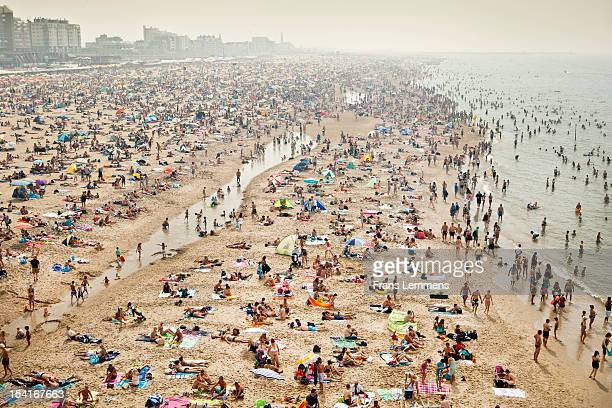 Netherlands, Scheveningen, People on beach