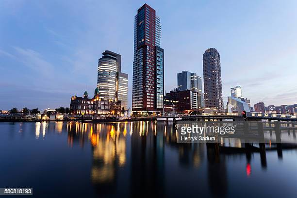 Netherlands, South Holland, Rotterdam, City skyline