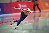 Netherlands speed skater Jakko Jan Leeuwangh competes in the men's 500m final at MWave during the 1998 Winter Olympic games