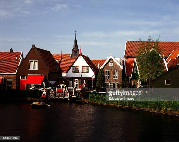 Netherlands Volendam Miniature Houses And Real Houses