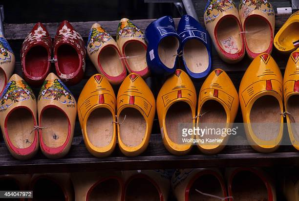 Netherlands Volendam Street Scene Wooden Shoes For Sale