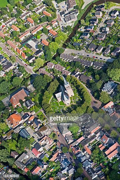 Netherlands, Wirdum, church on mound