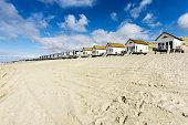 Netherlands, Zeeland, Walcheren, Domburg, Beach huts at beach