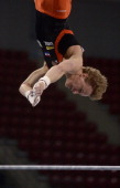 Netherlands's Epke Zonderland competes on the Horizontal bar in the men's artistic gymnastics final during the 31th European Men's Artistic...