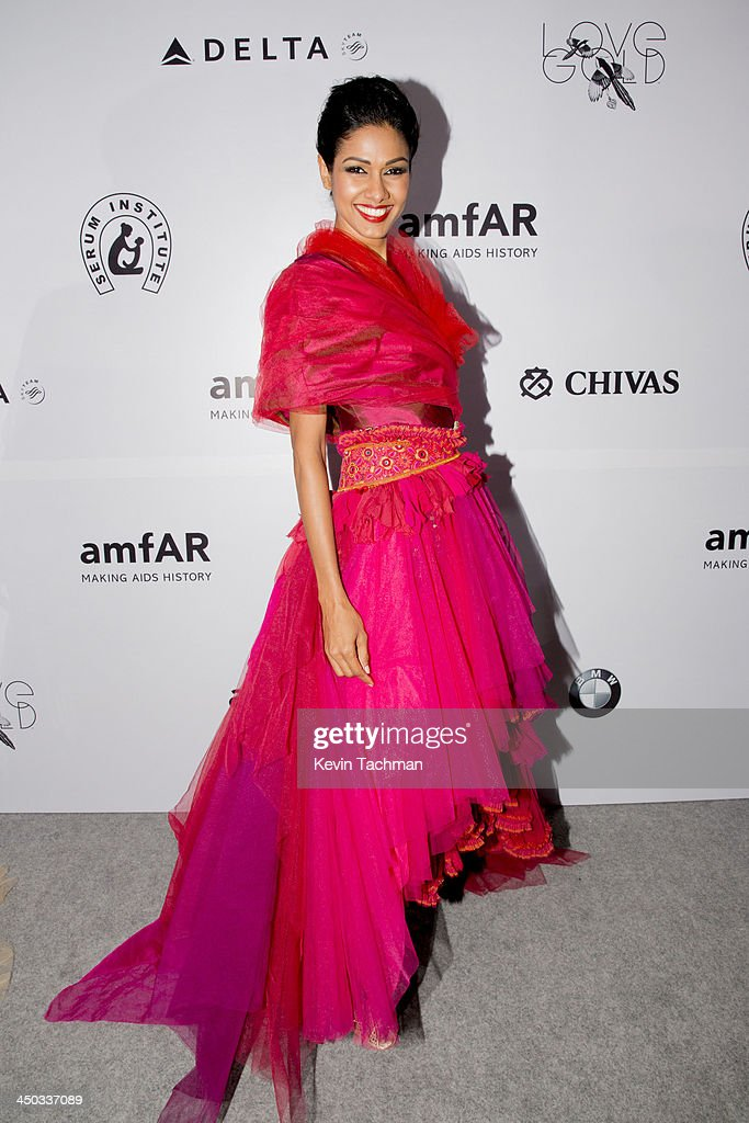 Nethra Raghuraman attends the inaugural amfAR India event at the Taj Mahal Palace Mumbai on November 17, 2013 in Mumbai, India.