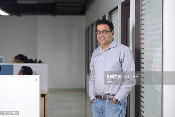 Netradynes Cofounder CEO Avneesh Agrawal photographed at his office NetraDynes main product is Driveri a unit containing soap barsized cameras that...
