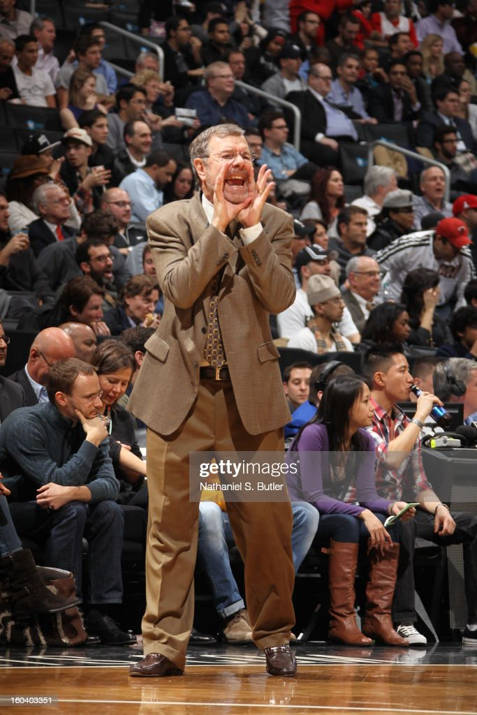 Nets head coach P.J. Carlesimo calls a play on January 30, 2013 at the Barclays Center in the Brooklyn borough of New York City.