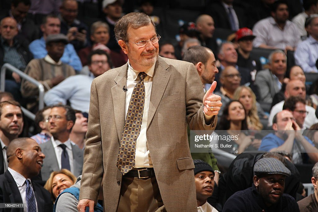 Nets head coach P.J. Carlesimo looks on during a game played against the Miami Heat on January 30, 2013 at the Barclays Center in the Brooklyn borough of New York City.
