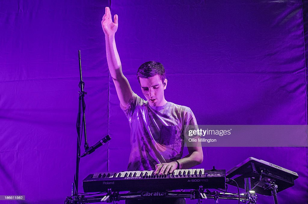 Netsky performs on stage during the opening night of the Chase & Staus Brand New Machine November 2013 UK Arena Tour at Nottingham Capital FM Arena on October 31, 2013 in Nottingham, England.