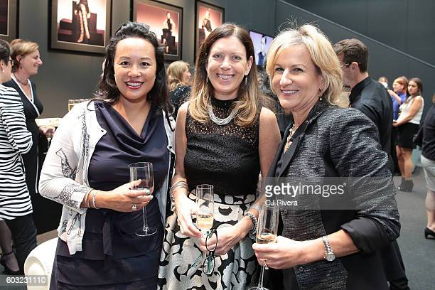 Netta Samroengraja Carol Schafer and Irene Marks attend the Wells Fargo Hospitality Event during New York Fashion Week The Shows on September 12 2016...