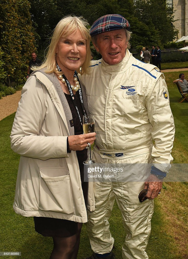 Nettie Mason and Jackie Stewart attend The Cartier Style et Luxe at the Goodwood Festival of Speed at Goodwood on June 26, 2016 in Chichester, England.