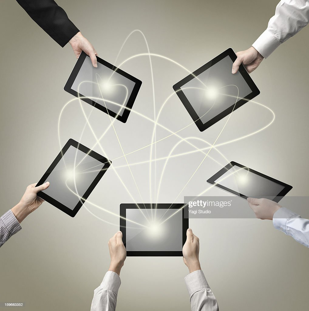 Network and Digital Tablet : Stock Photo