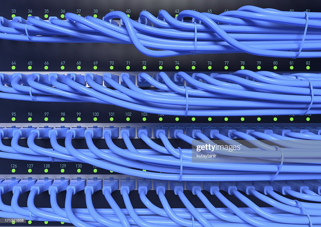 Network cables and hub