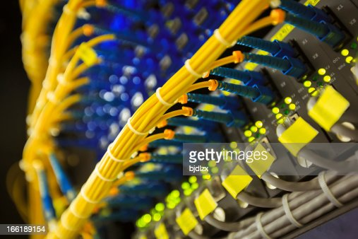 network cables and servers