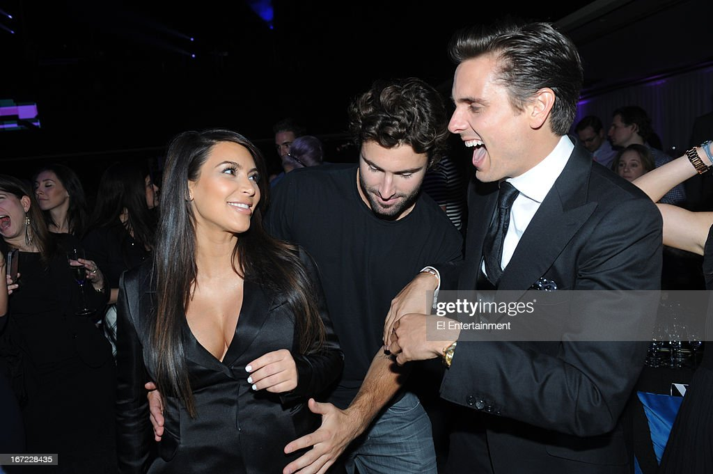 E! Network Events -- 'E! Entertainment 2013 Upfront at The Grand at Manhattan Center Studios' -- Pictured: (l-r) <a gi-track='captionPersonalityLinkClicked' href=/galleries/search?phrase=Kim+Kardashian&family=editorial&specificpeople=753387 ng-click='$event.stopPropagation()'>Kim Kardashian</a>, <a gi-track='captionPersonalityLinkClicked' href=/galleries/search?phrase=Brody+Jenner&family=editorial&specificpeople=689564 ng-click='$event.stopPropagation()'>Brody Jenner</a>, <a gi-track='captionPersonalityLinkClicked' href=/galleries/search?phrase=Scott+Disick&family=editorial&specificpeople=4420046 ng-click='$event.stopPropagation()'>Scott Disick</a>--