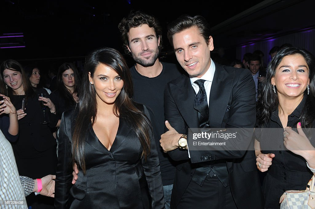 E! Network Events -- 'E! Entertainment 2013 Upfront at The Grand at Manhattan Center Studios' -- Pictured: (l-r) <a gi-track='captionPersonalityLinkClicked' href=/galleries/search?phrase=Kim+Kardashian&family=editorial&specificpeople=753387 ng-click='$event.stopPropagation()'>Kim Kardashian</a>, <a gi-track='captionPersonalityLinkClicked' href=/galleries/search?phrase=Brody+Jenner&family=editorial&specificpeople=689564 ng-click='$event.stopPropagation()'>Brody Jenner</a>, <a gi-track='captionPersonalityLinkClicked' href=/galleries/search?phrase=Scott+Disick&family=editorial&specificpeople=4420046 ng-click='$event.stopPropagation()'>Scott Disick</a> --